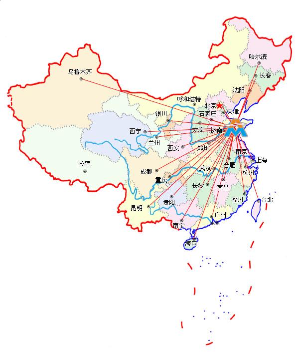 华东,中南市场,先后在沈阳,北京,天津,西安,上海,武汉,广州,济南,青岛